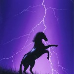 Lightning horse purple (sold)