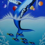 Blue whale (30 cm x 40 cm) for sale € 500