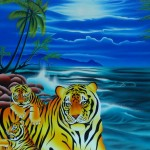 Four tigers (40 cm x 30 cm) for sale € 500