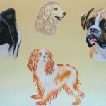 Four dogs (42 cm x 31 cm) for sale € 600