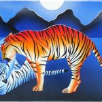 Playing tigers (30 cm x 16 cm) for sale € 125